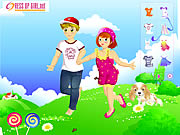 Kids Couple on Field