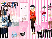 Pink Wallpaper Dress Up