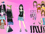 Pink Star Dress Up games
