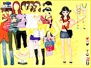 Yellow Casual Dress Up games